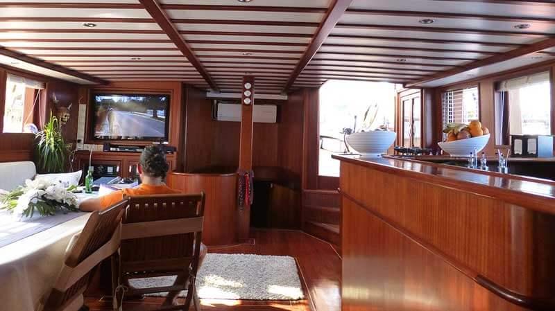 Aan boord van de Captain Jack