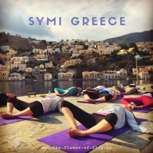 the flower of life in Symi during the yogacruise